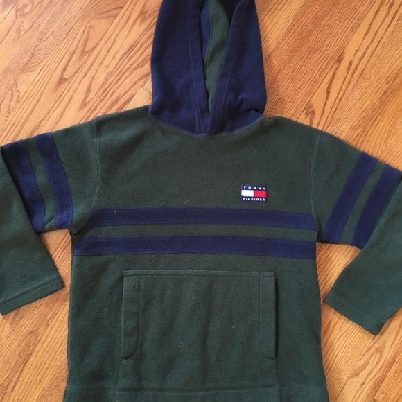 Baby Boy/'s Tommy Hilfiger Sherpa Lined Full Zip Hoodie Navy